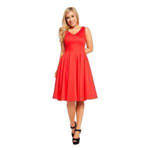 Eva Rose Red Hot Swing Dress